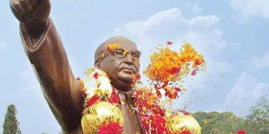 A statue of BR Ambedkar