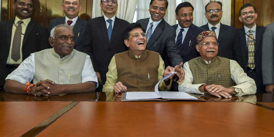 Piyush Goyal, Pon Radhakrishnan, Shiv Pratap Shukla