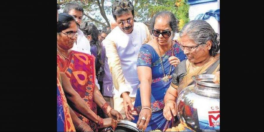 MEIL launches water scheme in EG village under CSR