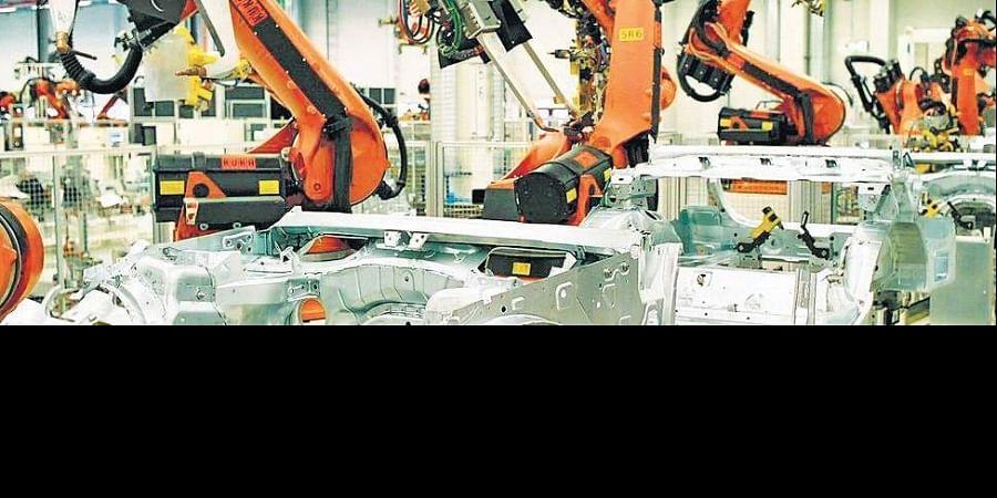 automobile factory, automobiles
