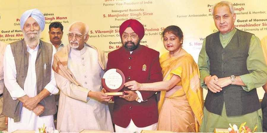 th birth anniversary of Guru Nanak Dev at Mata Sundari College for Women, University of Delhi.