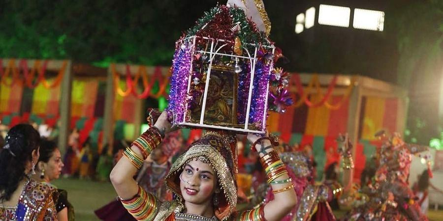 File image of garba ceremony.   (Photo   AP)