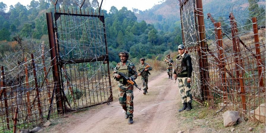 Soldiers take position near the Line of Control LoC in Poonch.