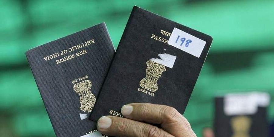 Indian passport.