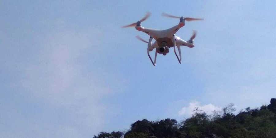 Drone surveillance, drone camera