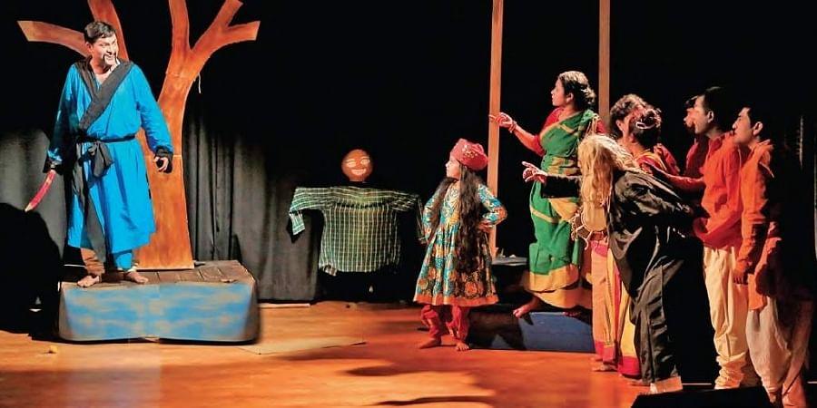 """Krishti Goshti's cultural team """"Neel Pakhi"""" staged a play, """" Kaktarua – the Scarecrow"""""""