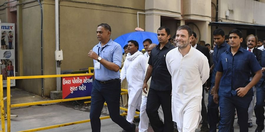 Former Congress President Rahul Gandhi at District and Session Court in Surat Thursday Oct. 10 2019. | (Photo | PTI)
