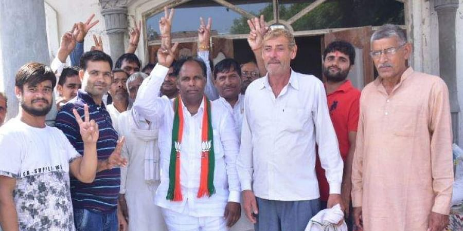 Jagdish Nayar, the BJP candidate from Hodal constituency