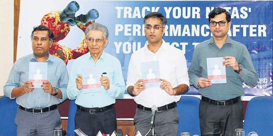 Praja Foundation released its fourth Delhi MLA Report Card, tracking the legislators' attendance, criminal record and perceived performance, on Thursday. (Photo | Praja.org)