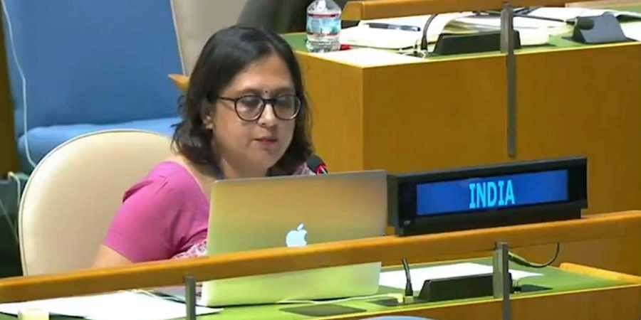 First Secretary in India's Permanent Mission to the UN Paulomi Tripathi