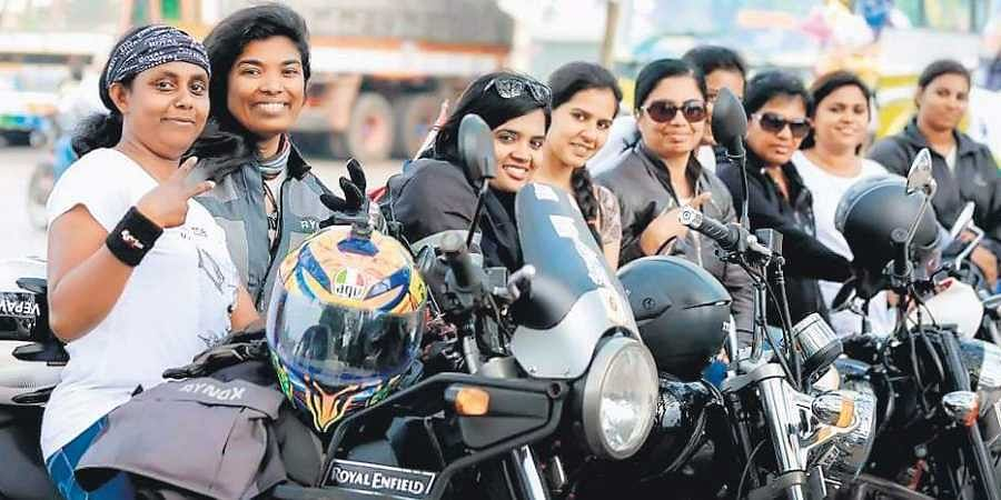 Kochi-based bikers Remya R Pillai and Sruthi R