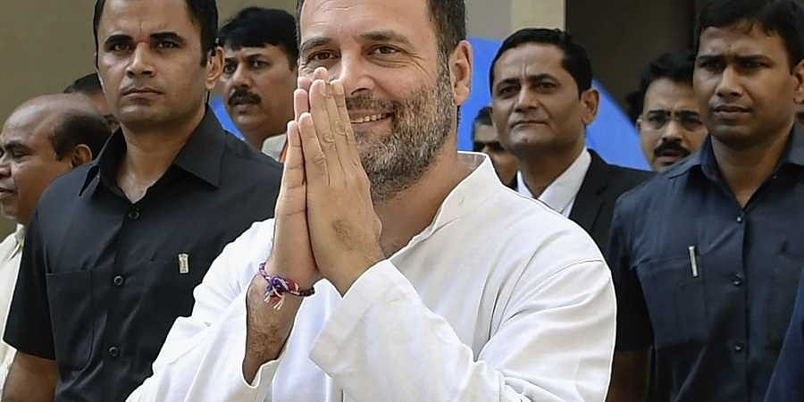 Former Congress President Rahul Gandhi arrives at District and Session Court in Surat Thursday