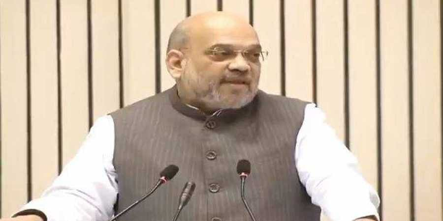 Union Home Minister Amit Shah addresses the 14th annual convention of the Central Information Commission.