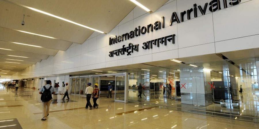 A view of the Indira Gandhi International Airport