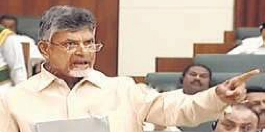 TDP supremo and Leader of the Opposition N Chandrababu Naidu speaks in AP legislative assembly