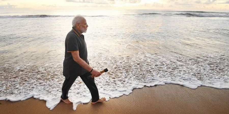 On Saturday Modi was seen picking up plastic litter,water bottles and other waste from a beach during his morning walk.