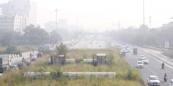 Vehicular traffic during smoggy weather around New Delhi on September 14 2019. | (Arun Kumar | EPS)