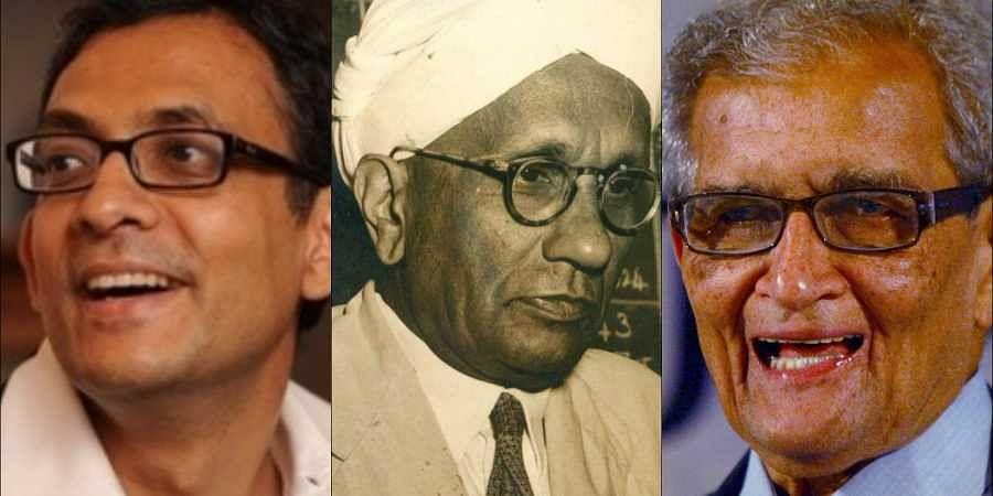 Abhijit Banerjee, C V Raman, Amartya Sen