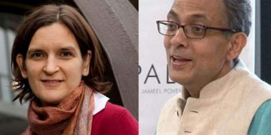 Abhijit Banerjee and his wife Esther Duflo