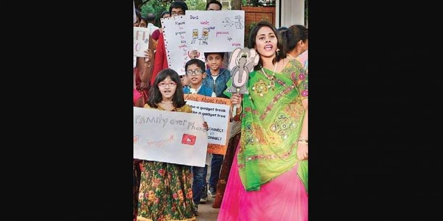 Dandiya march at JP Nagar