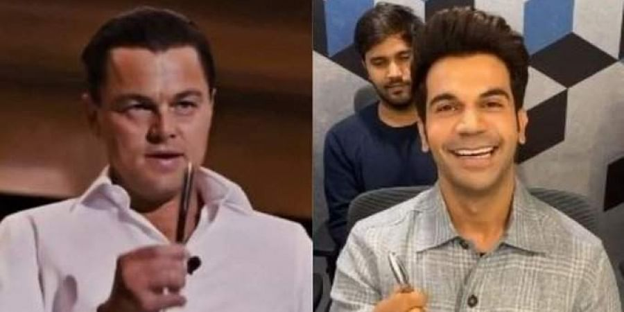 L-R: Actors  Rajkummar Rao and Leonardo DiCaprio.