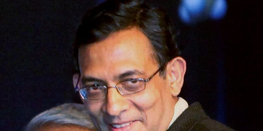 In this Jan 4 2010 file photo Abhijit Banerjee receives the Infosys Prize 2009 in Social Science Economics Category during a ceremony in New Delhi.   (File   PTI)