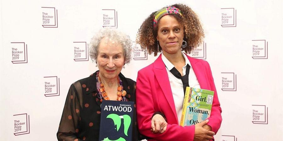 2019 Booker Prize winners Margaret Atwood and Bernardine Evaristo. (Photo | Booker Prizes Twitter)