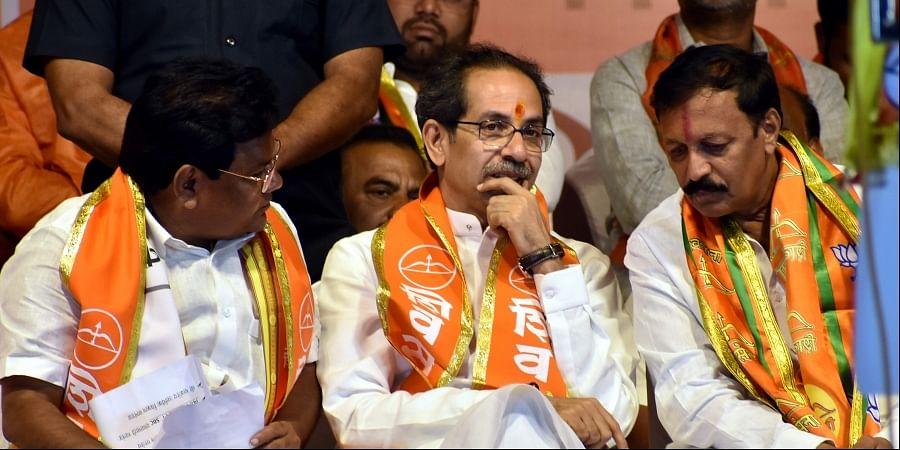Shiv Sena chief Uddhav Thackeray during the public rally ahead of Maharashtra's Assembly elections Solapur Maharashtra Monday Oct. 14 2019. | (Photo | PTI)