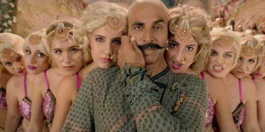 Actor Akshay Kumar in the 'Bala' song from 'Housefull 4'.