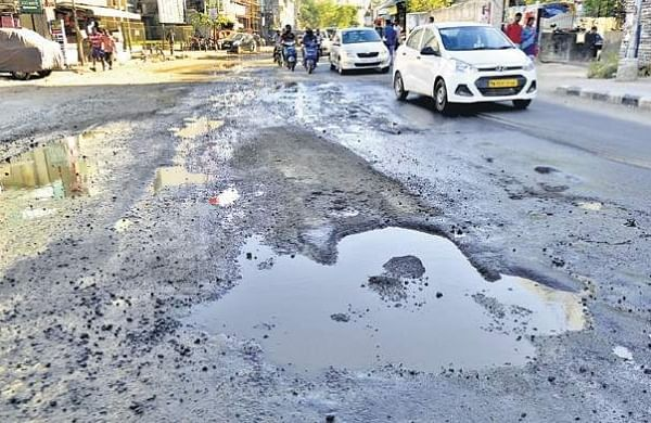 Rain leaves Secunderabad Cantonment roads in tatters
