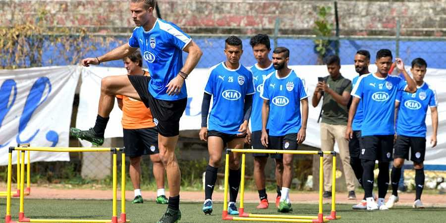 Bengaluru FC players train themselves ahead of their first ISL encounter this year on October 21 against NorthEast United FC