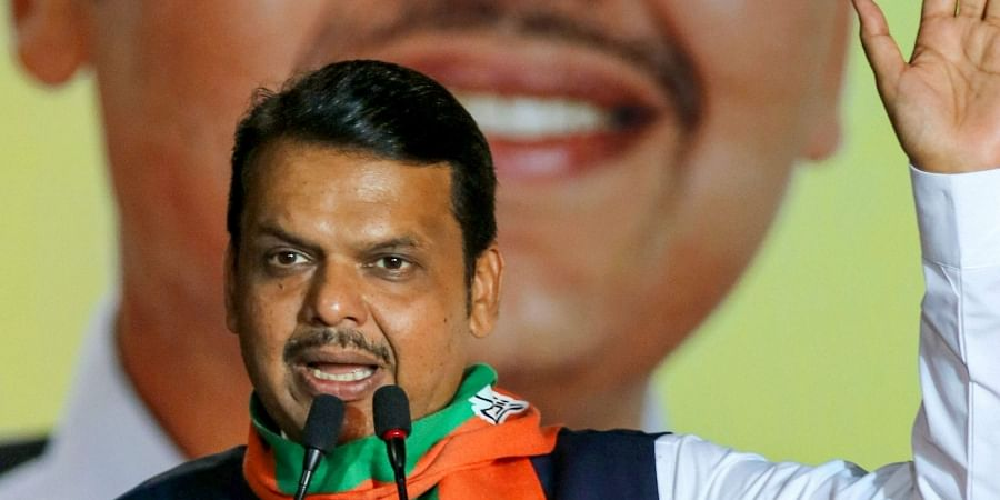 Maharashtra Chief Minister and BJP candidate from Nagpur South-West constituency Devendra Fadnavis addresses a public meeting ahead of Maharashtra Assembly polls in Nagpur Wednesday Oct. 16 2019. | (Photo | PTI)