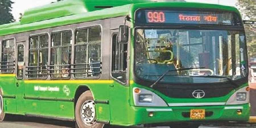 Delhi bus