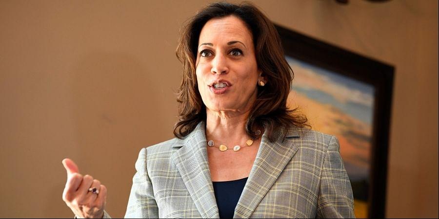 Democratic Presidential hopeful Kamala Harris