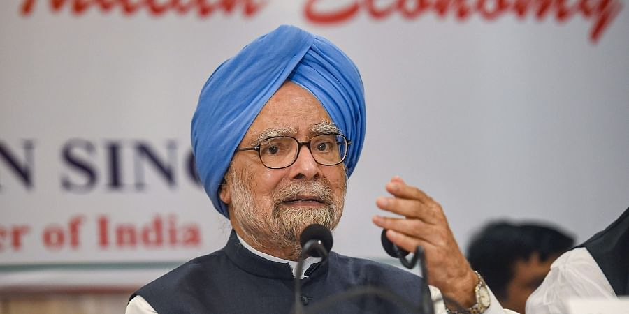 Congress senior leader and former prime minister Manmohan Singh addresses a press conference in Mumbai Thursday Oct. 17 2019. | (Photo | PTI)