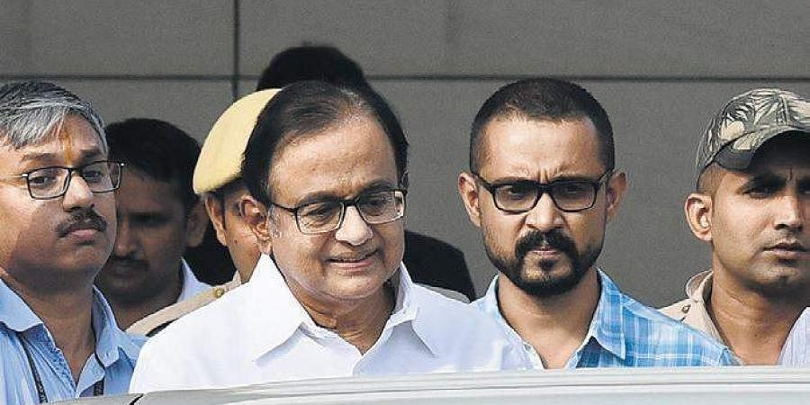 P Chidambaram being produced at a Delhi court in connection with INX Media scam.