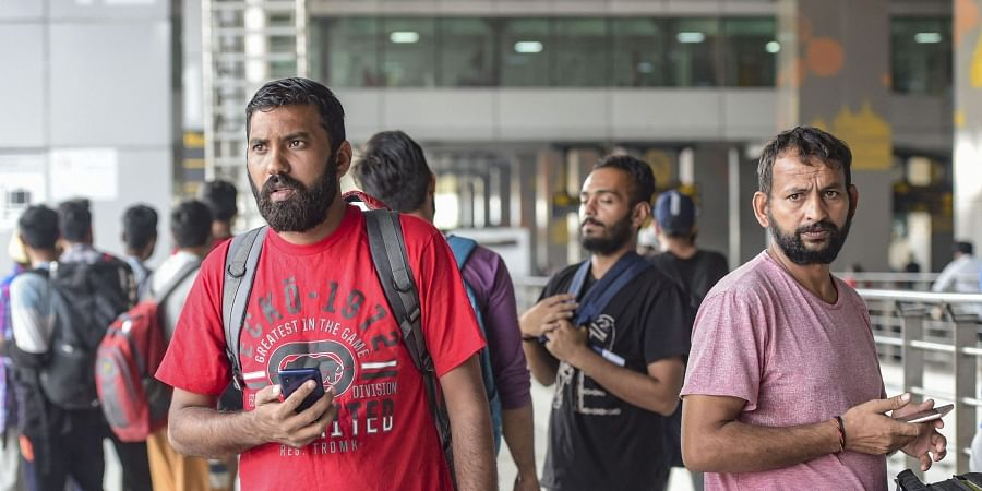 The immigrants were sent back to India on a chartered plane that took 11 hours. | (Photo | PTI)