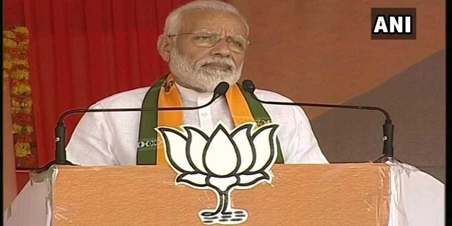 PM Narendra Modi in Sirsa, Haryana.