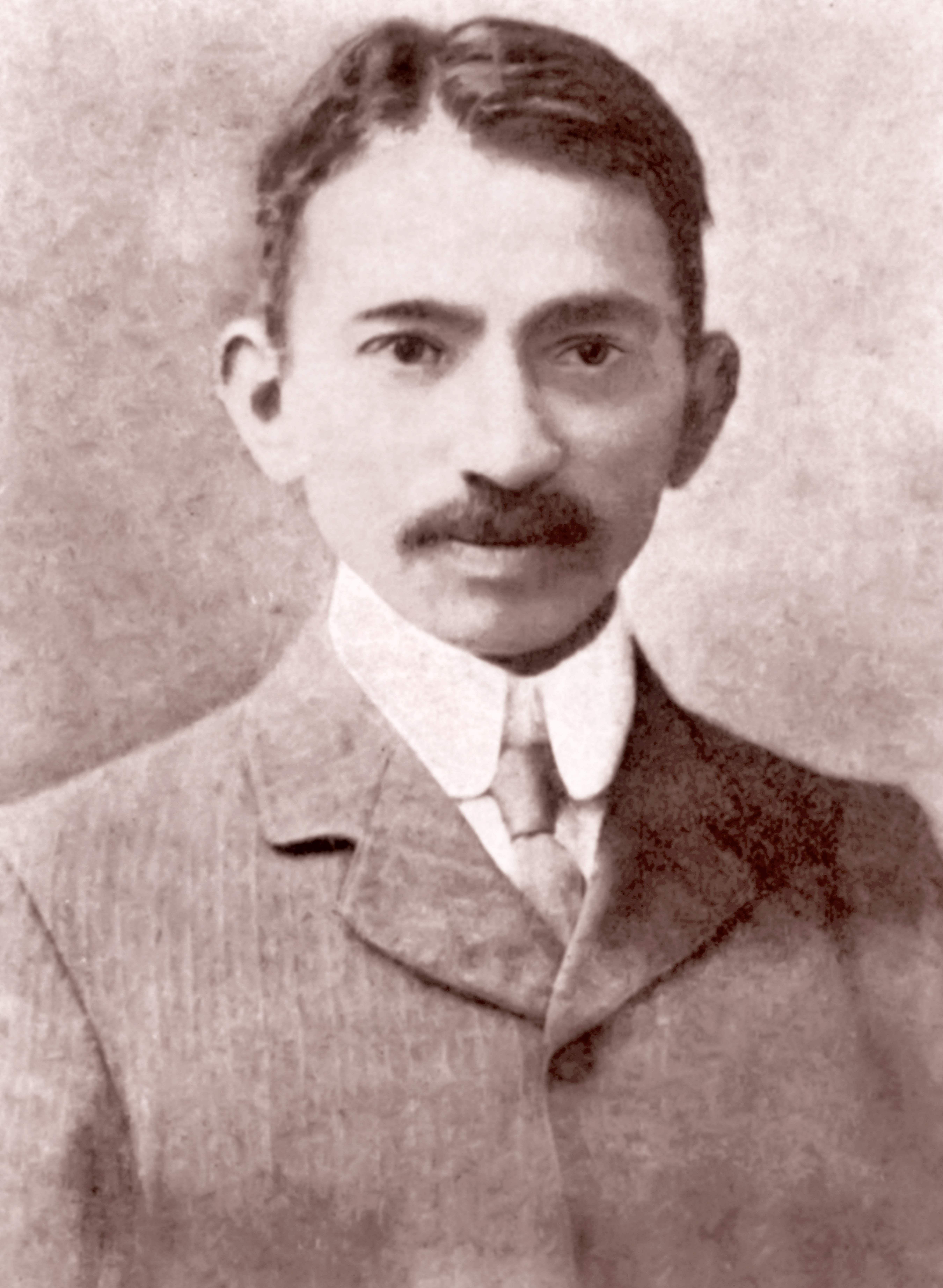 Mahatma Gandhi at Johannesburg in 1907.