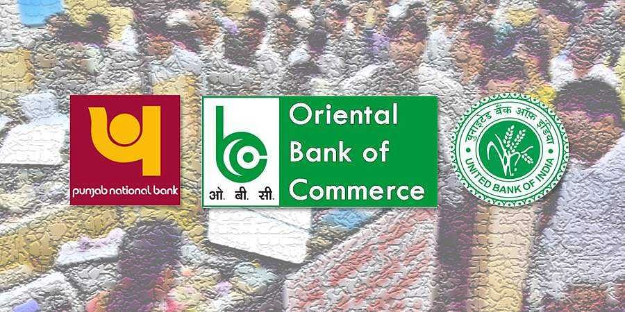 The merger of  Punjab National Bank, Oriental Bank of Commerce and United Bank will form the second largest bank
