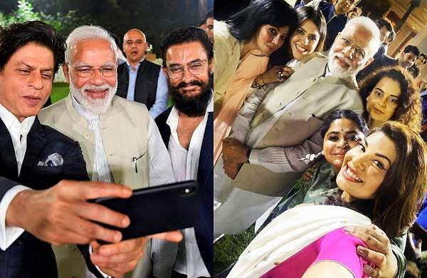PM Narendra Modi interacted with members of the film industry on Saturday in CELHI, and several of Bollywood's top stars were present at the event.