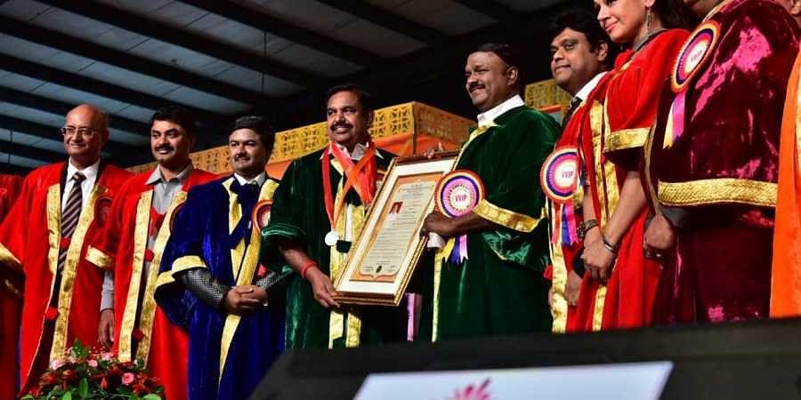 Tamil Nadu CM Palaniswami conferred doctorate by varsity