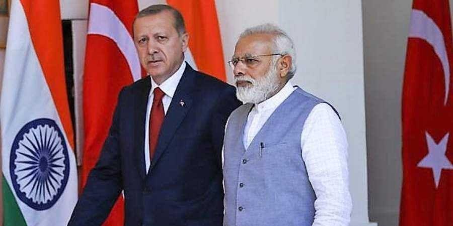 Prime Minister Narendra Modi and Turkish president Recep Tayyip Erdogan