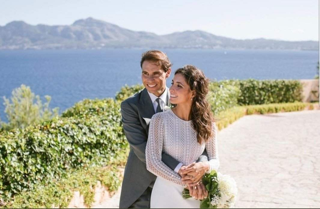 Rafael Nadal married his partner of 14 years, Xisca Perello, at a castle in Mallorca on Saturday.