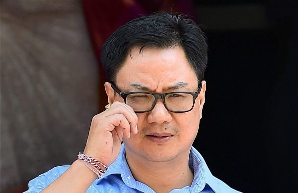 Exit polls are showing clear victory for BJP: Sports Minister Kiren Rijiju