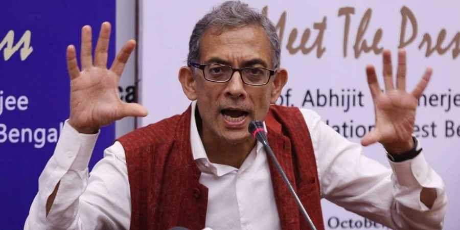 Nobel Prize winner Abhijit Banerjee at a press conference in New Delhi