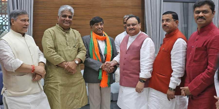Former Congress Rajya Sabha MP KC Ramamurthy joins BJP in New Delhi today.