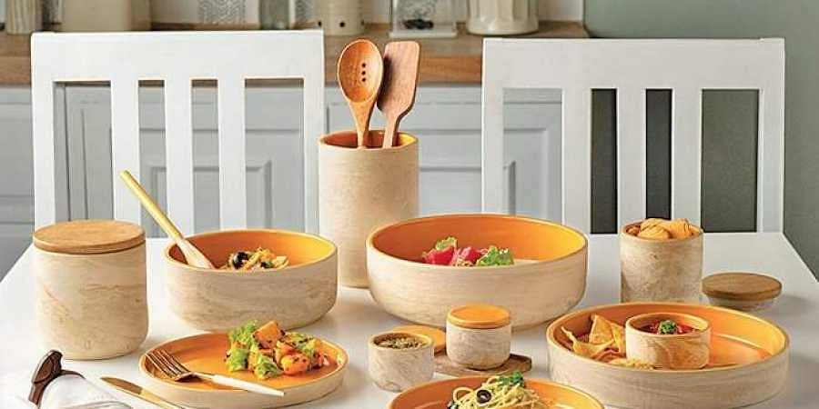 The Amber Love collection of tableware from Ellementry  home decor brand has been inspired by nature.