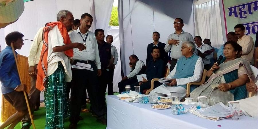 Chhattisgarh Governor Anusuiya Uikey visited Supebeda village affected by kidney disease for over a decade.