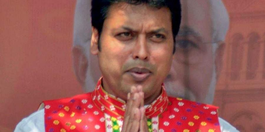 Tripura Chief Minister Biplab Deb . (File | PTI)
